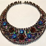 vintage julianan rhinestone necklace