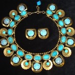 vintage larry vrba necklace and earrings