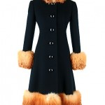 vintge 1960s wool and fox coat