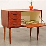 vintage 1950s teak entry chest