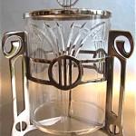 vintage art nouveau WMF biscuit barrel and liner