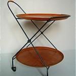 vintage md folding tea cart