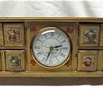 vintage mid century italian florentine clock