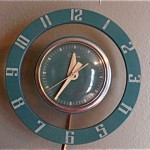 vintage midcentury wall clock