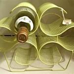 vintage midcentury wire mesh wine rack