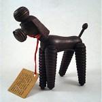 vintage teak zoo-line poodle dog