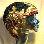 vintage 1920s beaded skull cap