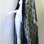 victorian chantilly lace cape