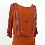 vintage 1920s art deco beaded flapper dress 1