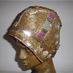 vintage 1920s sequin flapper hat