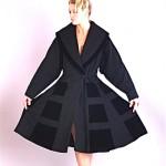 vintage 1940s lilli ann wool and velvet coat 1
