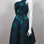 vintage 1950s asymmetric cocktail dress