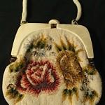 vintage 1950s delilli beaded evening bag
