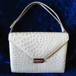 vintage 1950s ostrich handbag
