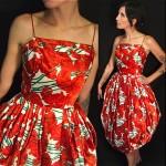 vintage 1950s satin bubble dress