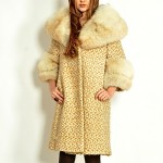 vintage 1960s coat with fox fur