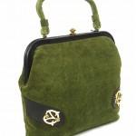 vintage 1960s deadstock suede handbag