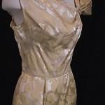 vintage 1960s gold brocade cocktail dress