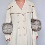 vintage 1960s lilli ann fox trim cape coat