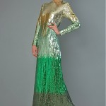 vintage 1970s bill blass ombre seqin evening gown