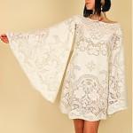 vintage 1970s lace angelwing mini dress