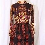 vintage 1970s ronald amey evening maxi gown