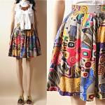 vintage 1980s graphic print skirt