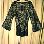 vintage alfred shaheen tunic top