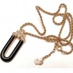vintage christian dior enamel and rhinestone necklace