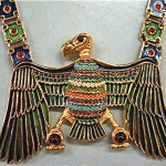 vintage d'orlan egyptian revival necklace