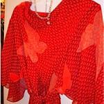 vintage hanae mori silk chiffon dress