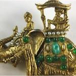 vintage hattie carnegie elephant brooch