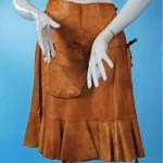 vintage leather wrap skirt