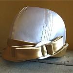 vintage mod 1960s oleg cassini satin hat