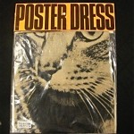 vintage new in bag harry gordon cat poster dress