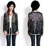 vintage oleg cassini beaded jacket