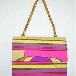 vintage pucci neon handbag