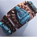 vintage rebajes copper and buddha bracelet 1