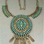 vintage zuni turquoise necklace