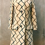 vintage 1960s geometric print coat