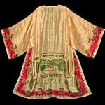 vintage 1920s art deco embroidered silk robe