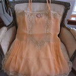 vintage 1920s silk crepe french lace teddy