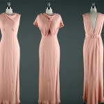 vintage 1930s crepe maxi gown with cape and train