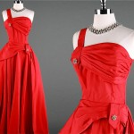 vintage 1940s fred perlberg evening gown