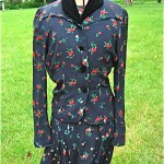 vintage 1950s dress with beaded jacket