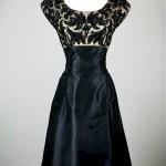 vintage 1950s little black beaded cocktail dress