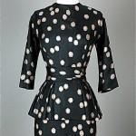 vintage 1950s suzy perette silk cocktail dress