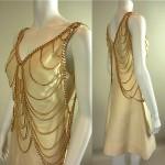 vintage 1960s anne fogarty chain dress