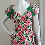 vintage 1960s arnold scaasi floral dress