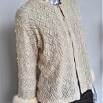 vintage 1960s beaded cardigan with mink trim